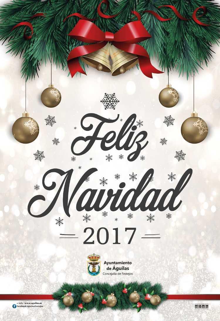cartel feliz navidad aguilas 2017