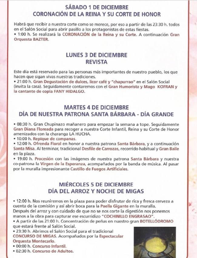 programación fiestas archivel 2018 -01