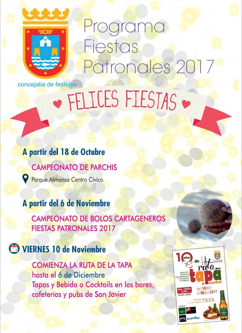 Programación Fiestas de San Javier 2017