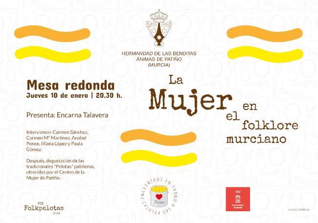 mesa redonda la mujer en el folclore murciano, folkpelotas 2019