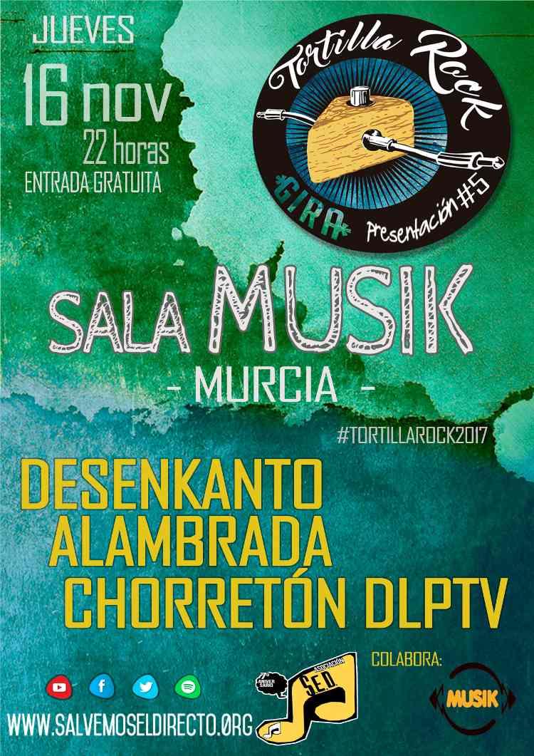 Gira Presentación Tortilla Rock en sala musik de murcia