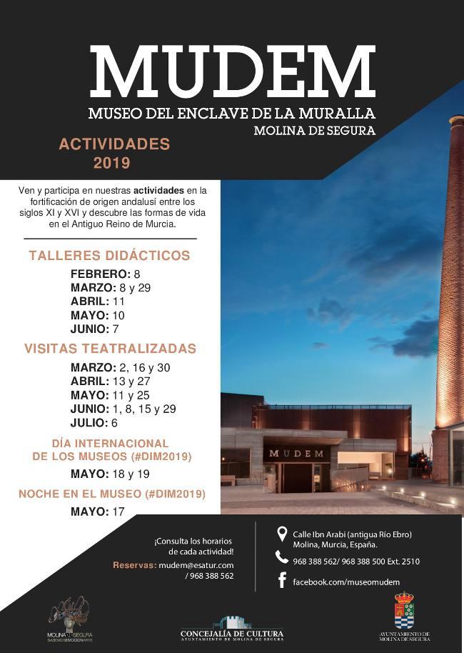 El programa de actividades del Museo del Enclave de la Muralla (MUDEM) para los meses de febrero a julio de 2019