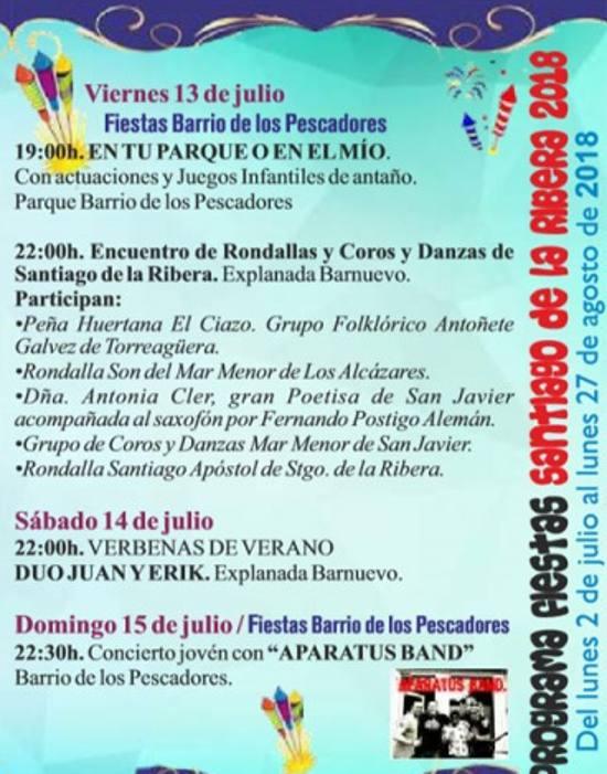 Fiestas De Santiago De La Ribera La Guia W La Guia Definitiva