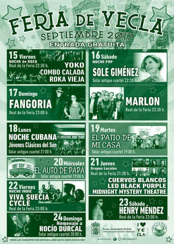 Conciertos Feria Yecla 2017