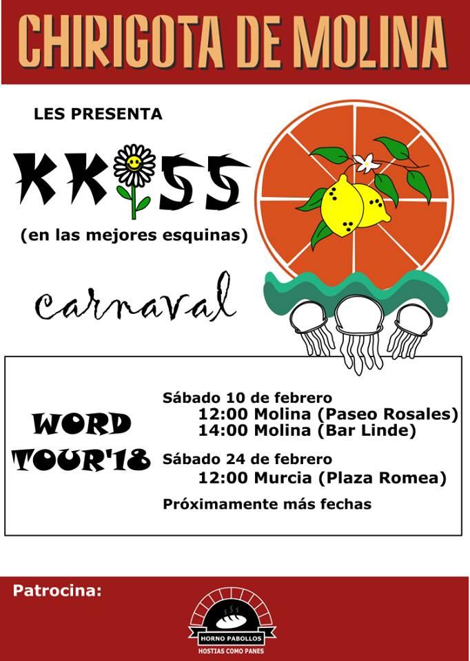programación chirigota de molina, carnavales 2018