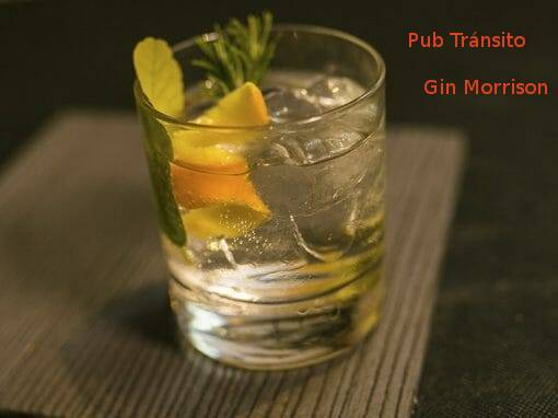 Cóctel Gin Morrison en Pub Tránsito en X ruta de la tapa y coctel de cehegín