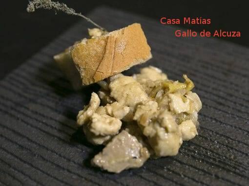 Tapa Gallo de Alcuza en Casa Matías- X ruta Tapa y el cóctel de Cehegín