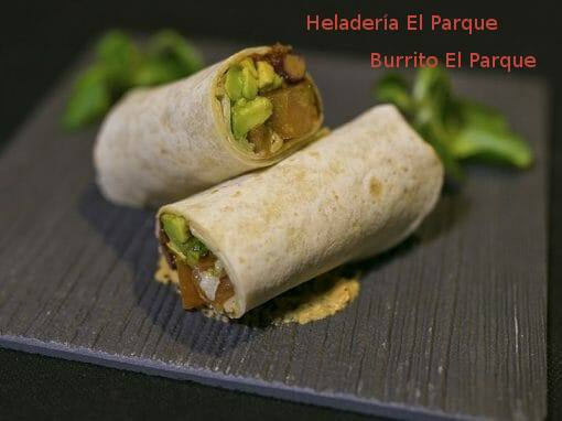 Tapa Burrito El Parque en Heladería El Parque- X ruta Tapa y el cóctel de Cehegín