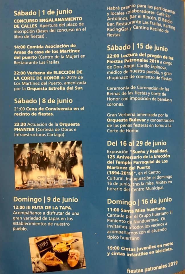 Programa Los Martinez del Puerto 2019