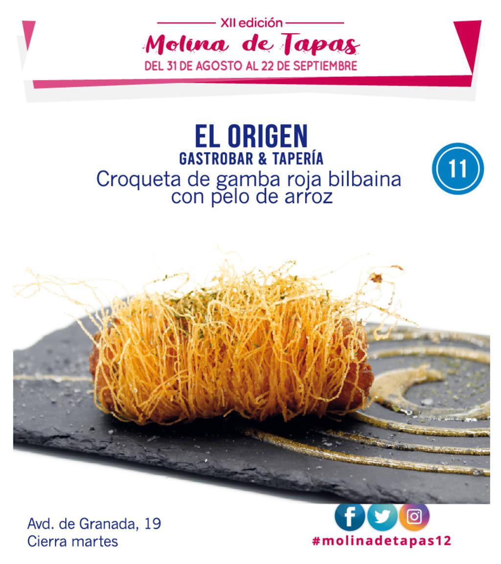 tapa Gastrobar & Tapería El Origen para molina tapas 2019