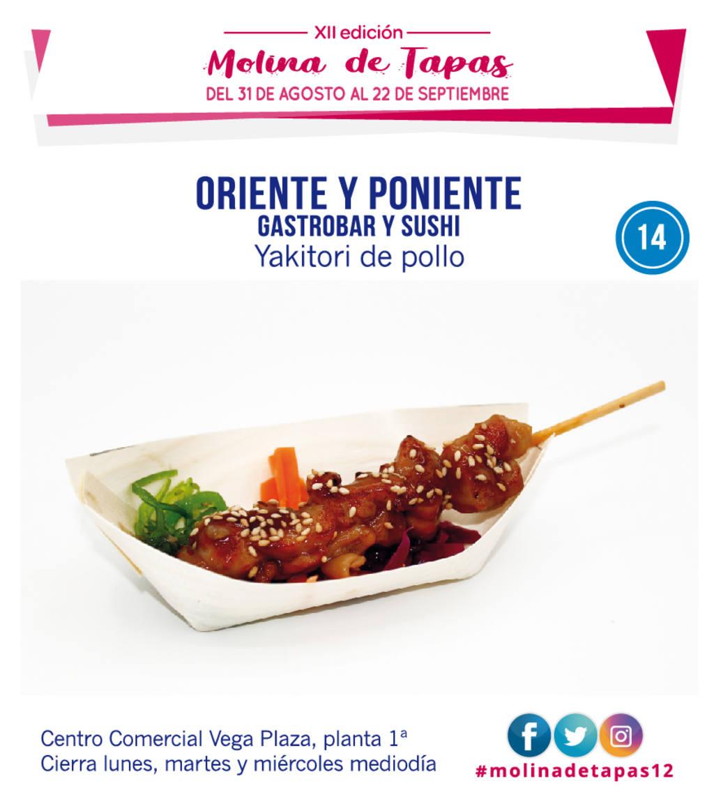 tapa Oriente y Poniente Gastrobar y Sushi para molina tapas 2019