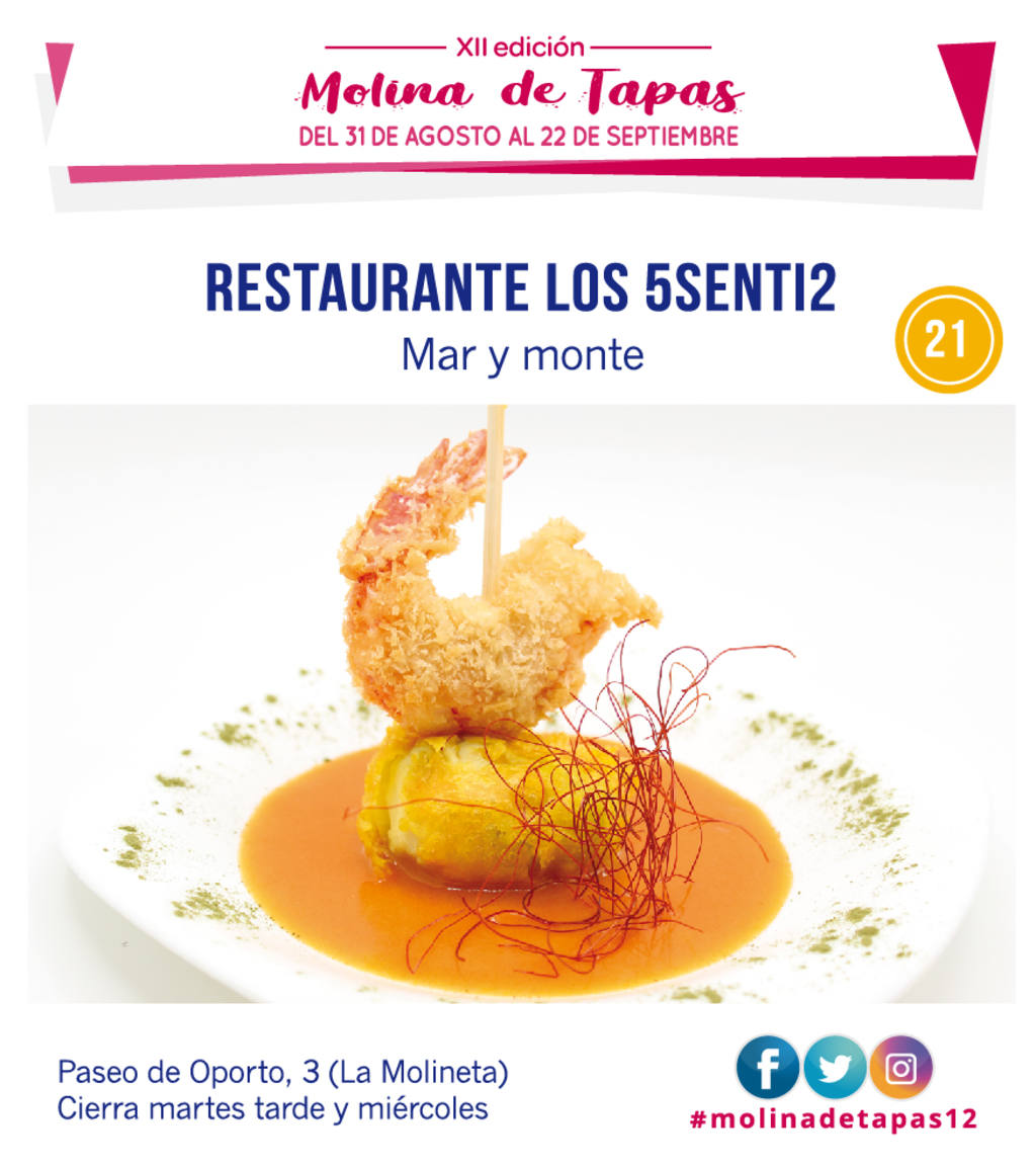 tapa Restaurante 5Senti2 para molina tapas 2019
