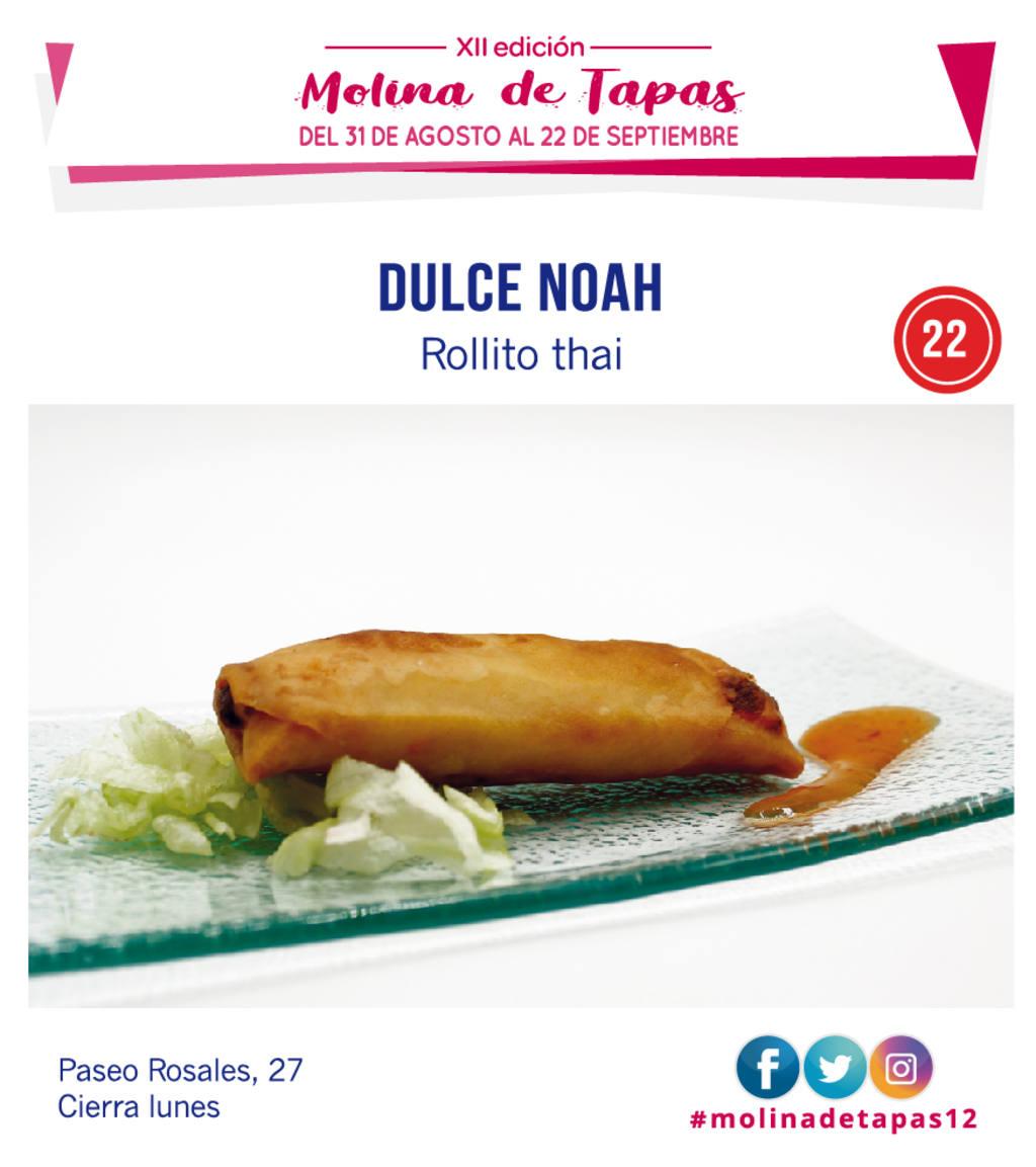tapa Dulce Noah para molina tapas 2019