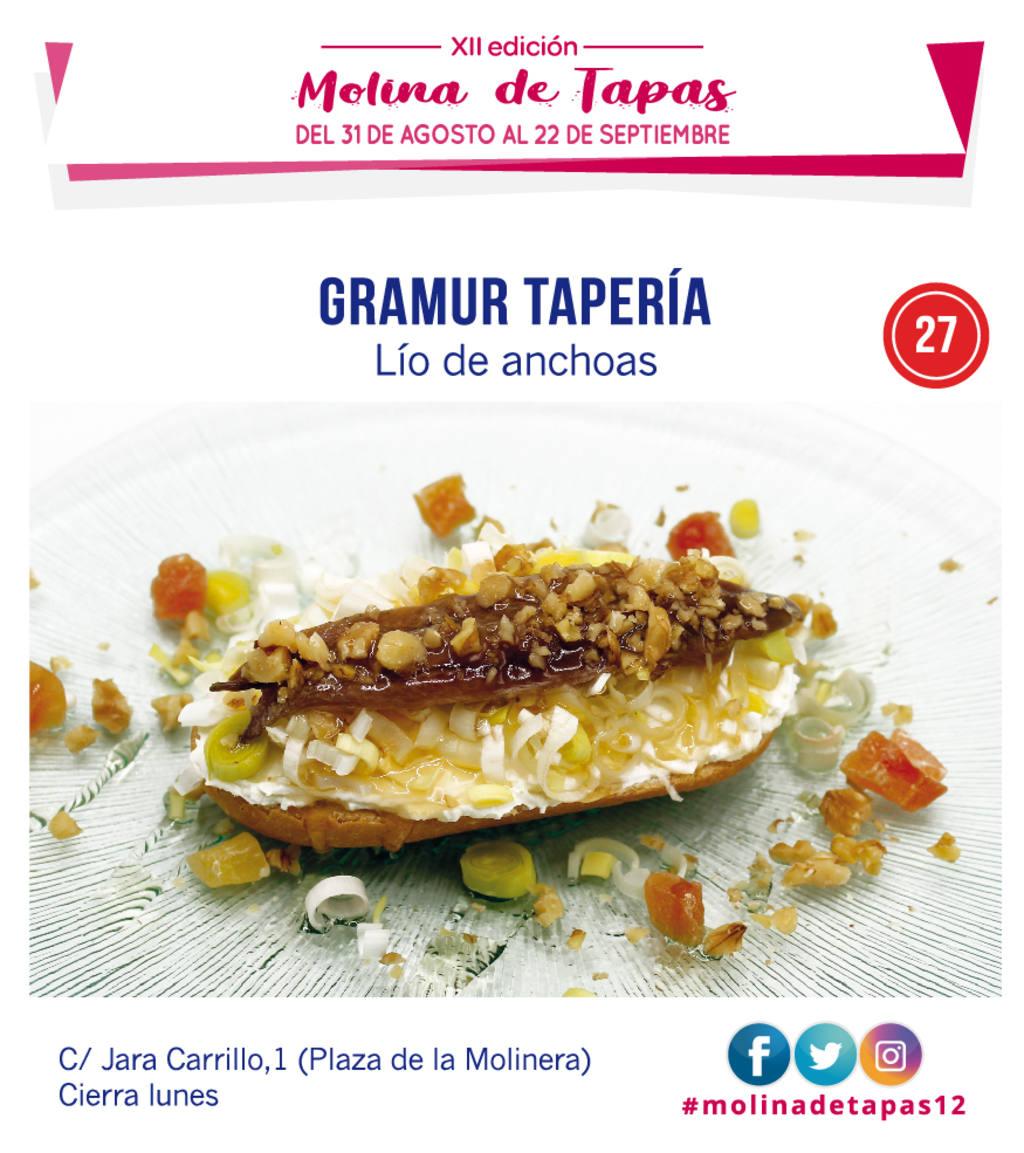 tapa Taperia Gramur  para molina tapas 2019
