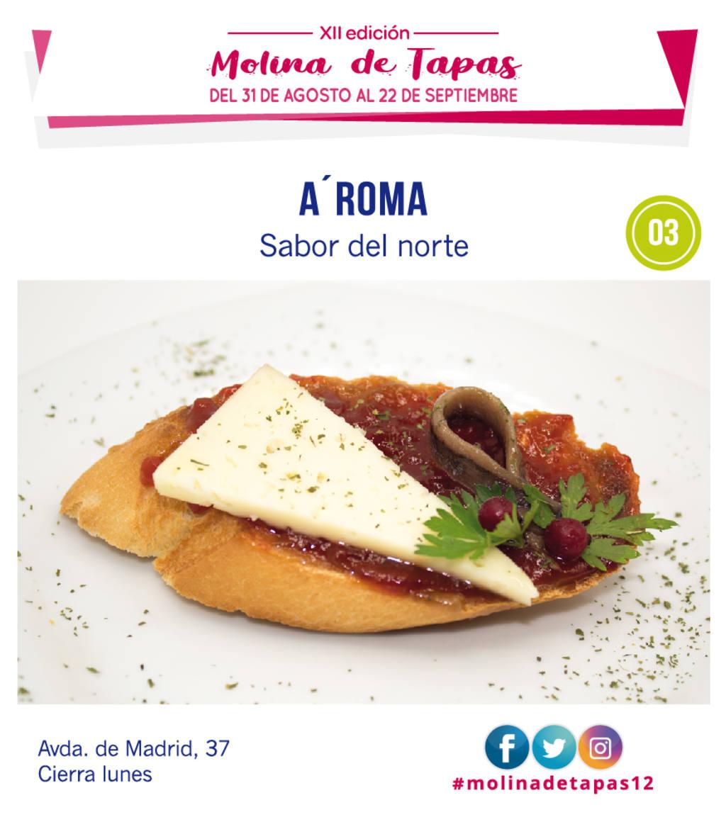 tapa Cafe Bar A'Roma  para molina tapas 2018