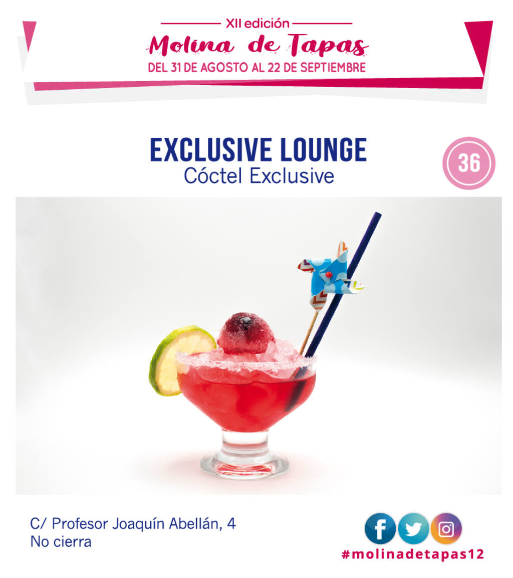 el cóctel de exclusive lounge para molina tapas 2019