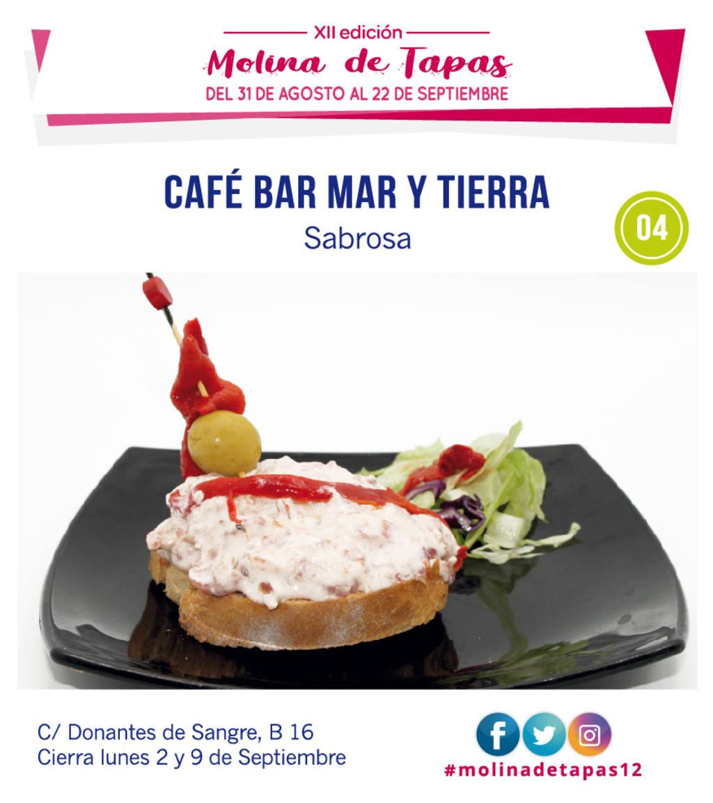 tapa >Café Bar Mar y Tierra para molina tapas 2018