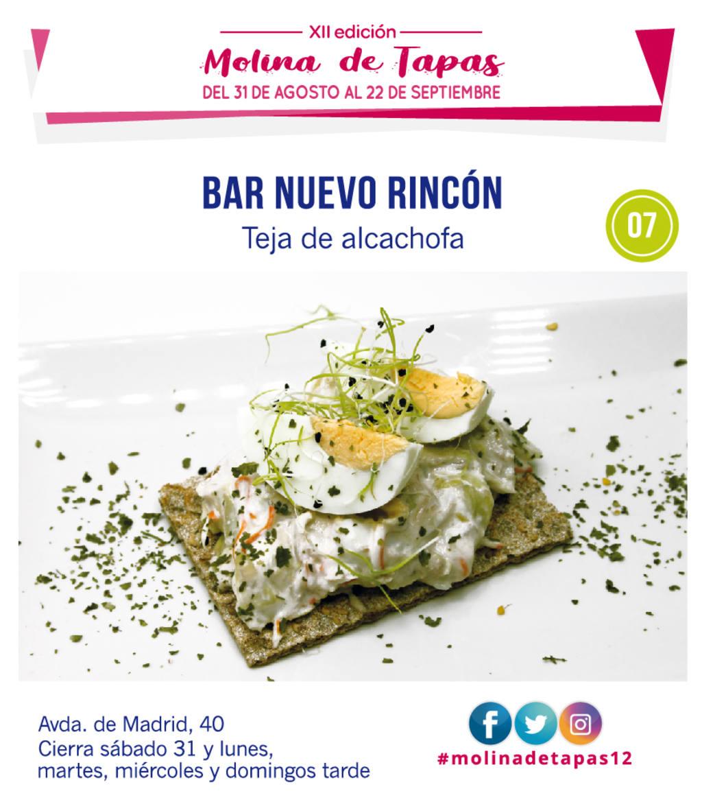 Bar Nuevo Rincón de Molina para molina tapas 2019