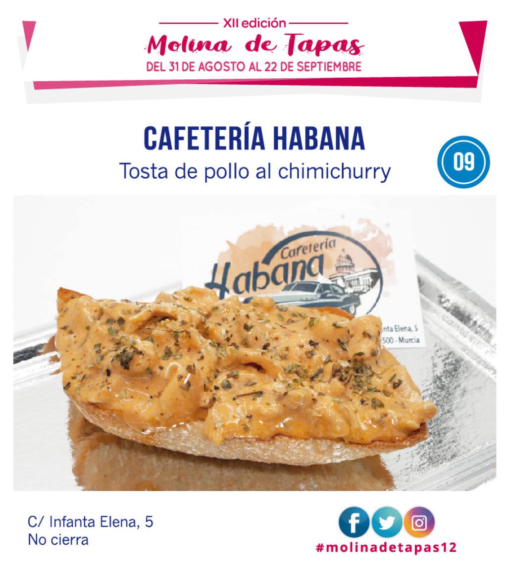 tapa Cafetería Habana  para molina tapas 2019