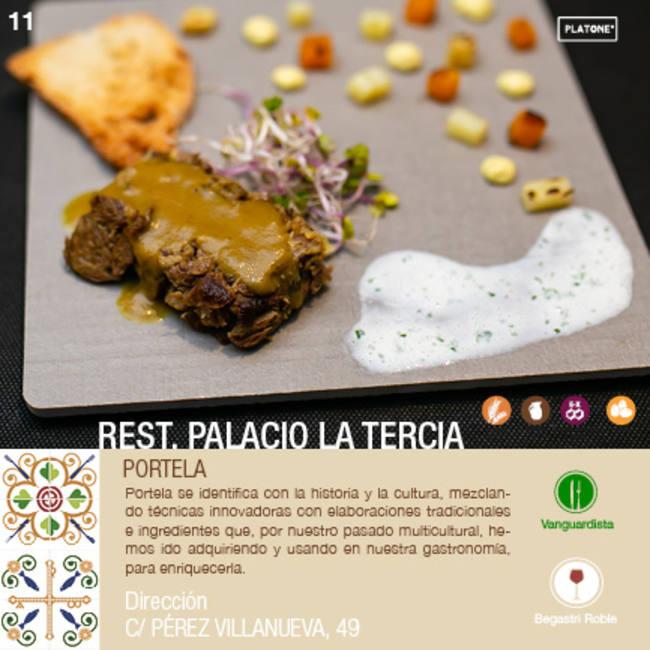 PORTELA en      PALACIO DE LA TERCIA     - XII ruta Tapa y el cóctel de Cehegín 2020