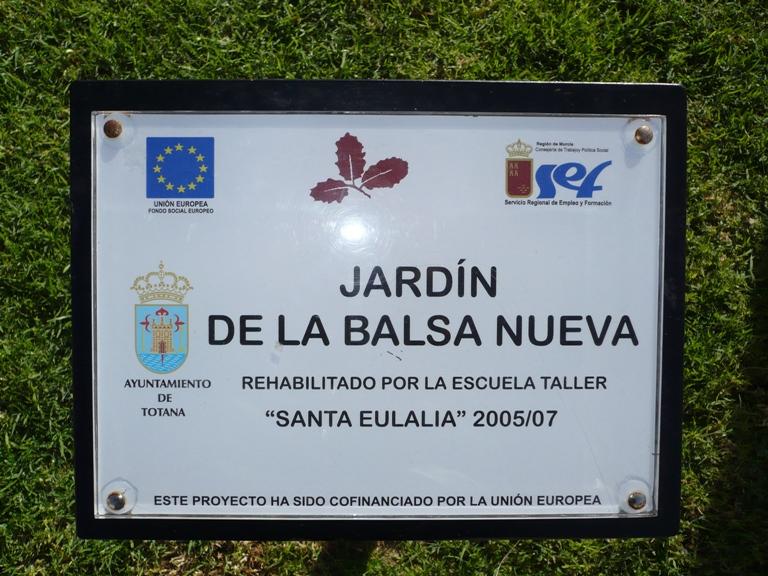 Jardín de La Balsa Nueva de Totana