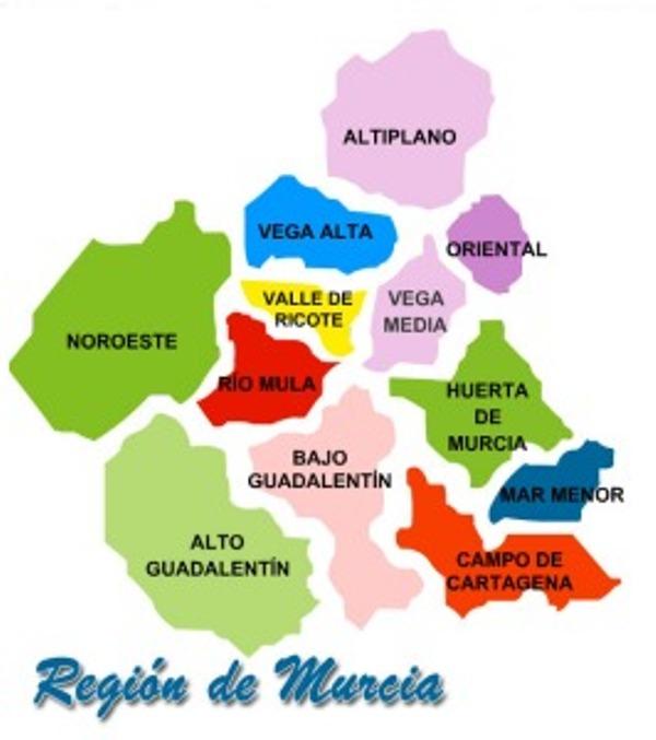 Murcia por Comarcas