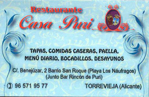 Restaurante Bar Casa Puri