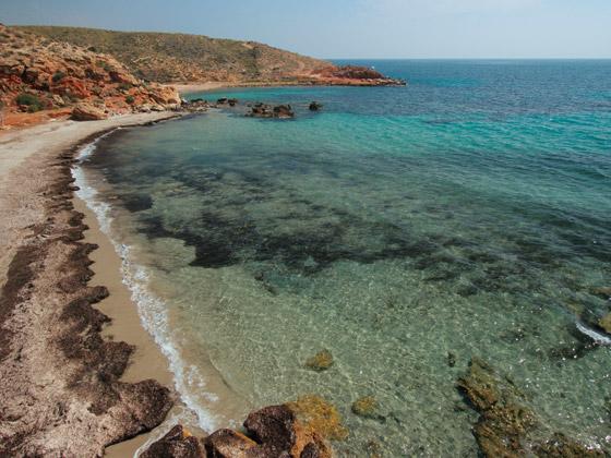 Playa Cala del  Leño de Mazarrón