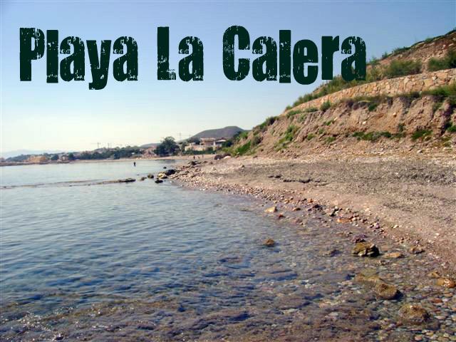 Playa La Calera en Cartagena