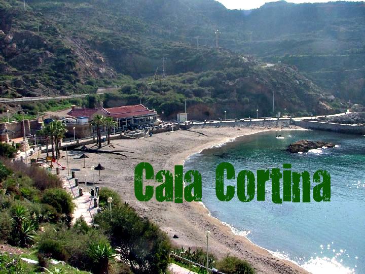 Cala Cortina en Cartagena