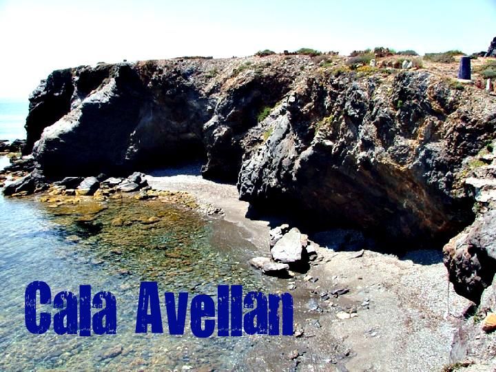Cala Avellán en Cartagena