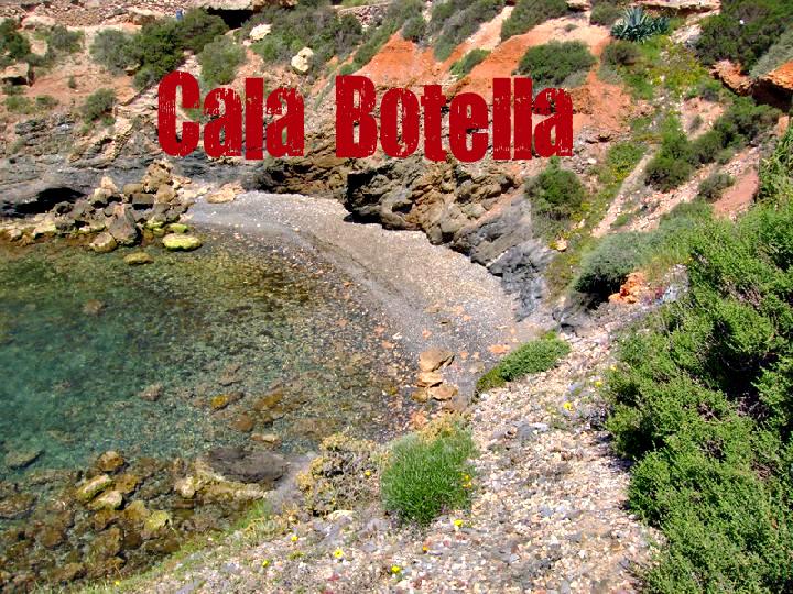 Cala Botella en Cartagena