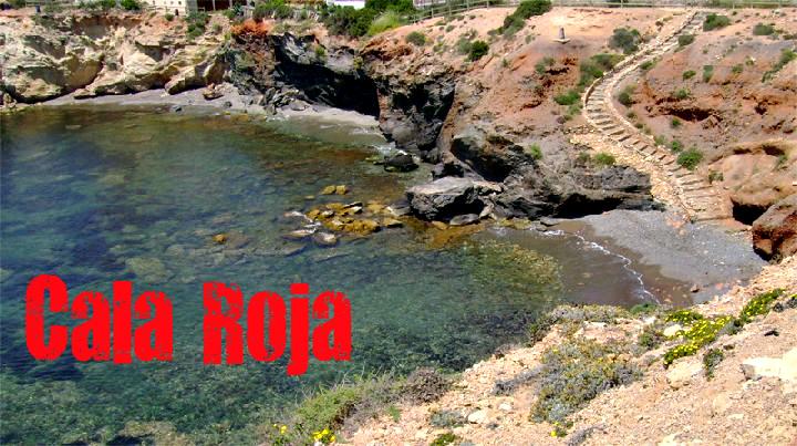 Cala Roja en Cartagena