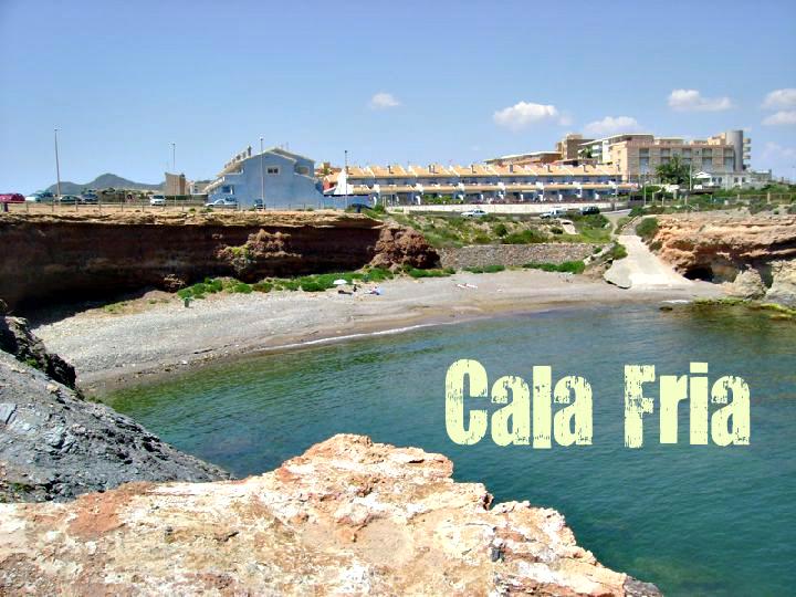 Playa Calafría en Cartagena