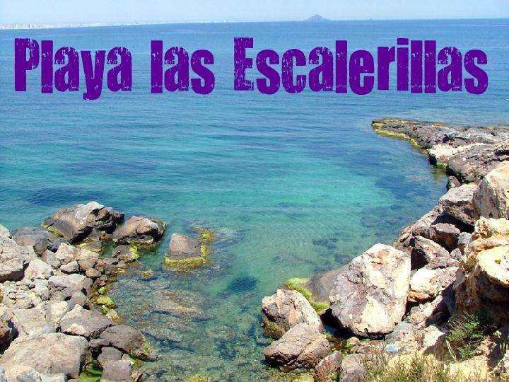 Cala Las Escalerillas en Cartagena