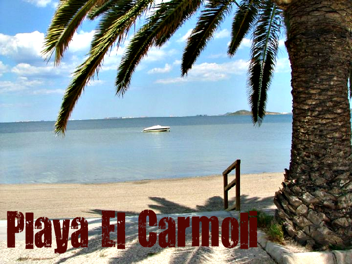 Playa El Carmolí en Cartagena