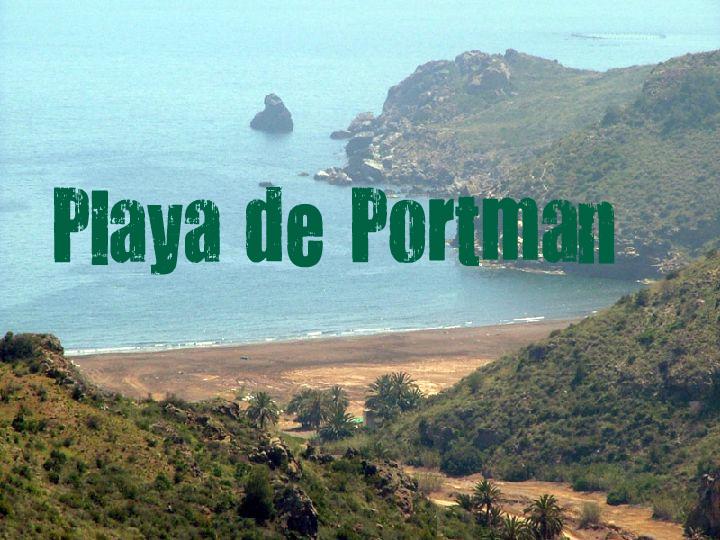 Playa de Portmán en La Unión