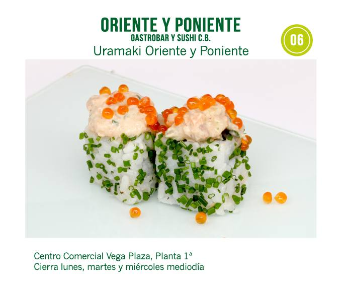 Oriente y Poniente Gastrobar y Sushi en Centro Comercial Vega Plaza en  Molina de Segura
