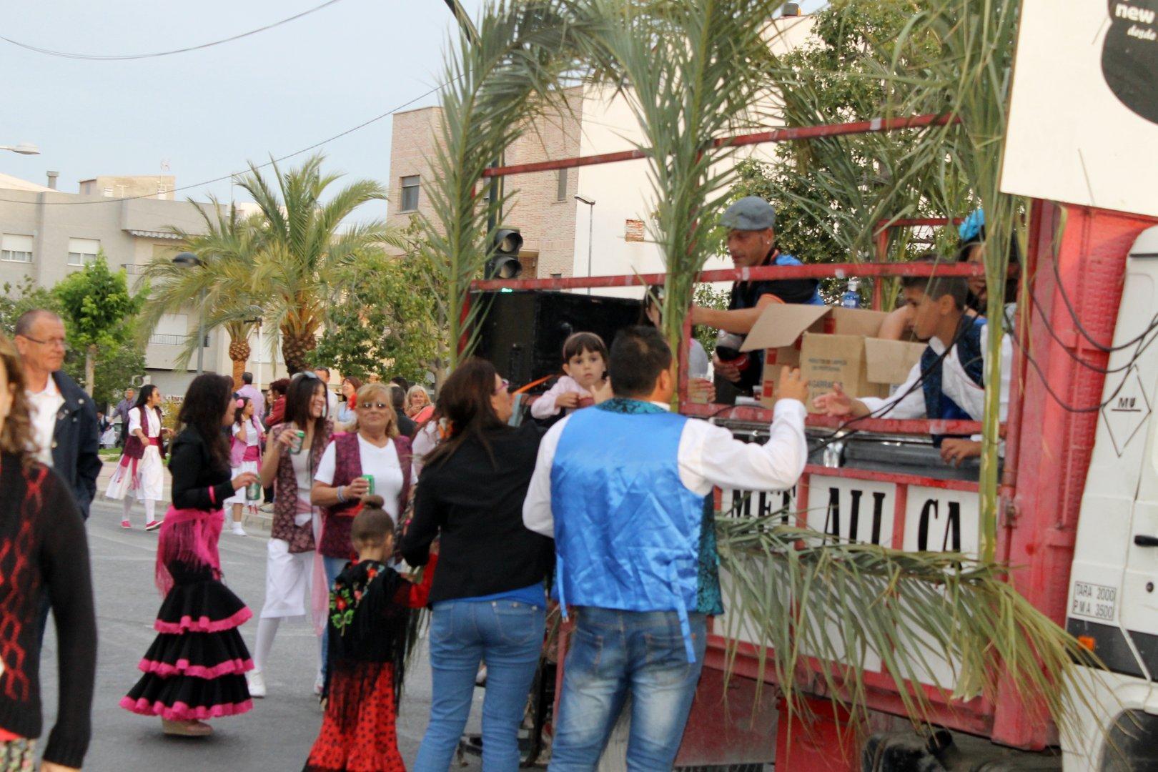 Las Carrozas en Las Fiestas de San Isidro 2014 de Fortuna