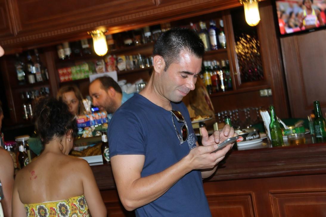 Fiestas 2015. Lanzamiendo Huesto de Oliva