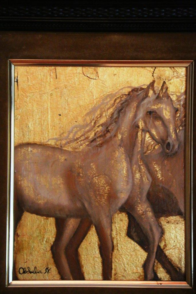Exposición  de pintura en pan de Oro-Plata y Bronce de  Obdulia Nicolas