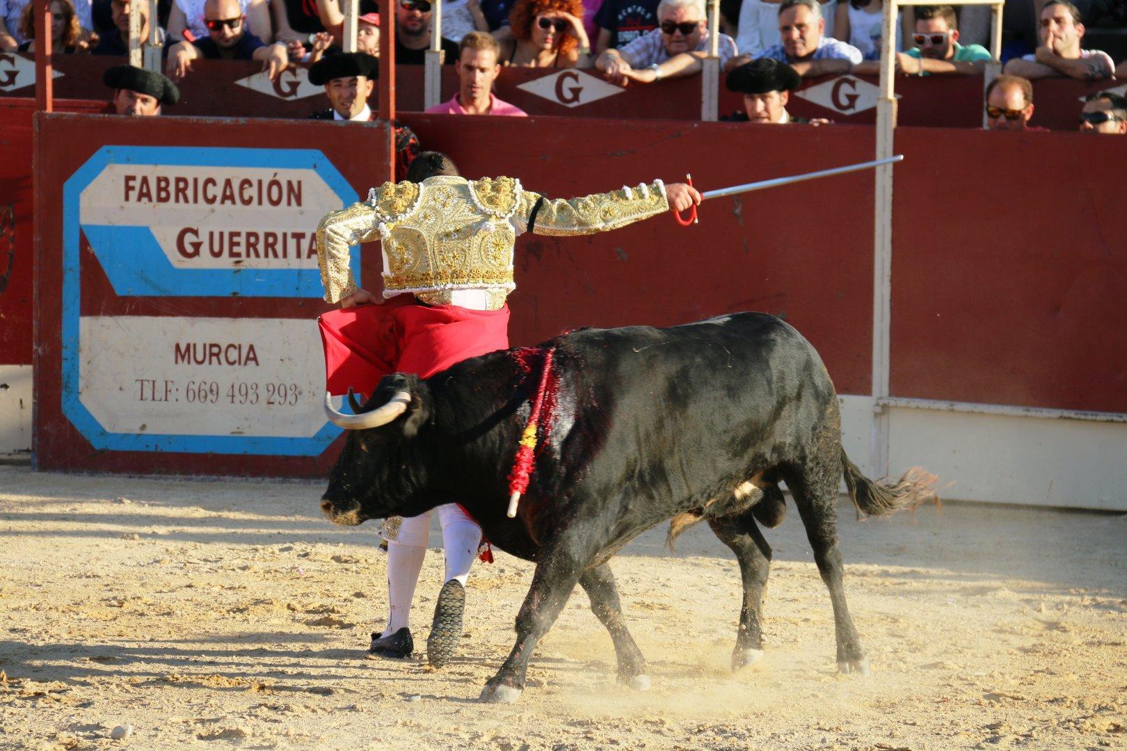 Toros en Lorqui con Joao Maria Branco, Juan Belda y Miguel Angel Moreno