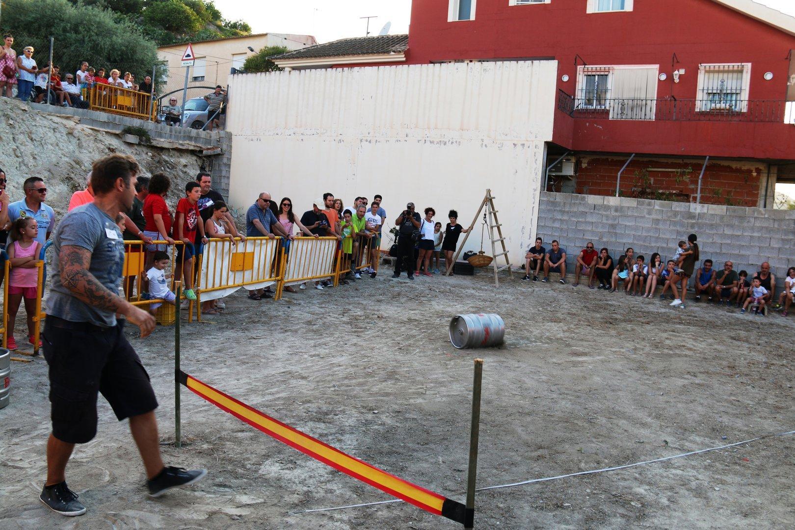 Lanzamiento de Barril 2016, Fiestas El Hurtado , Archena