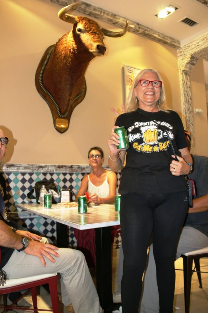 Restaurane El Albero. Almuerzo motero y concierto de Bang con Miguel Bañón