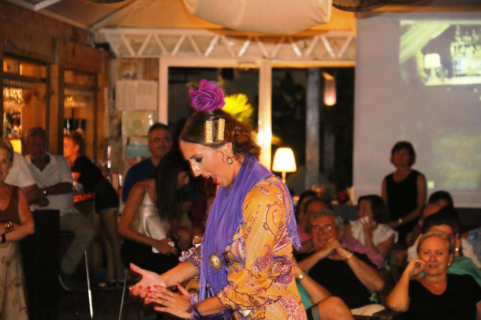 Cuadro Flamenco en Oasis de las Palmeras Agosto 2016