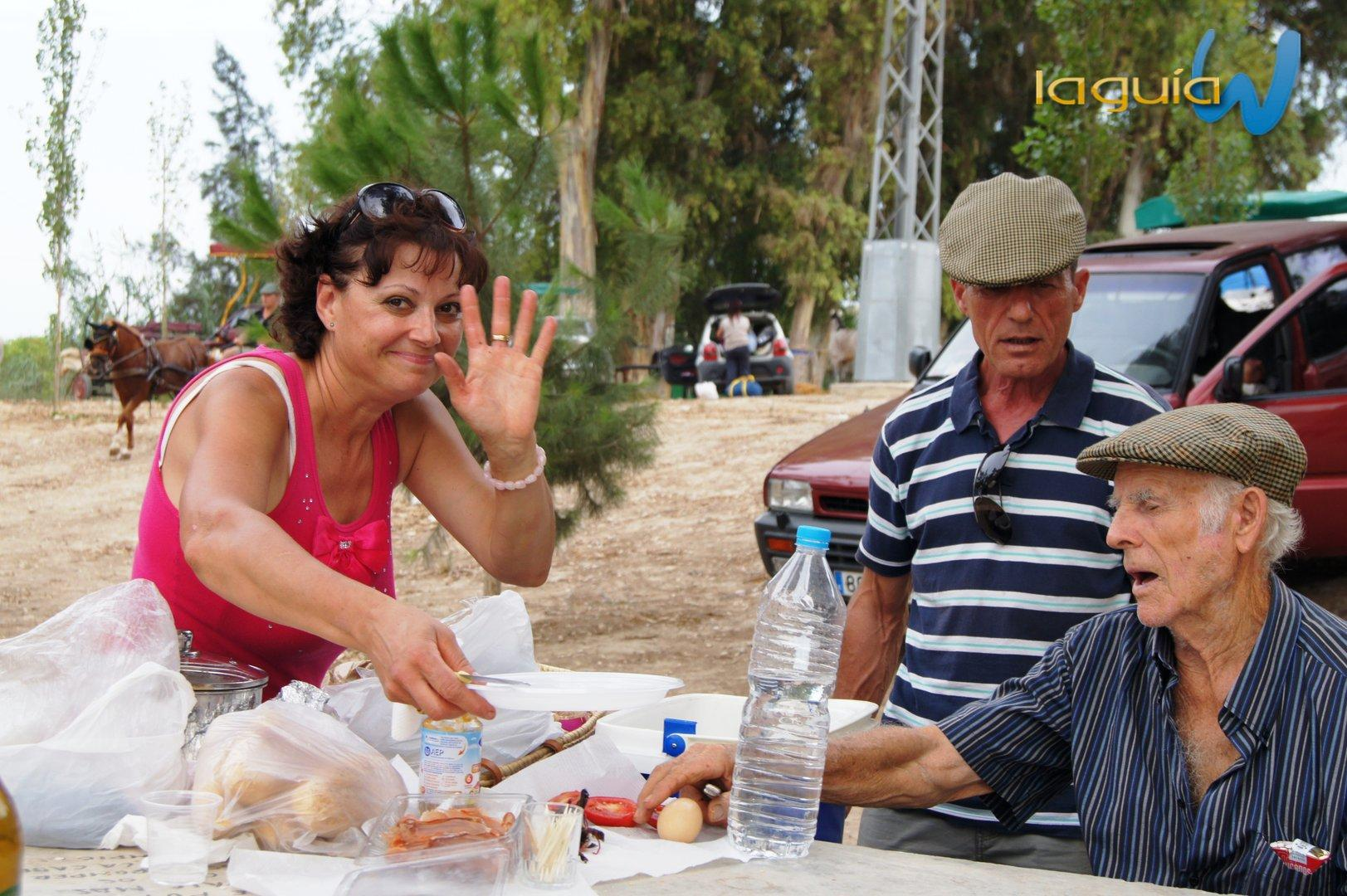 Romeria rociera 2012 archena En La Luz Comida y Noche comida