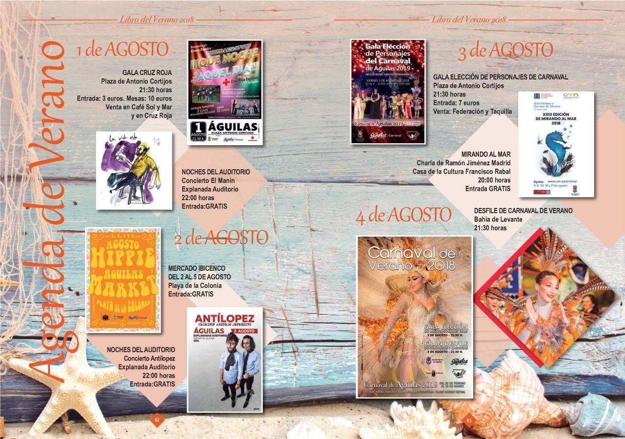 Agenda de Verano Aguilas 2018