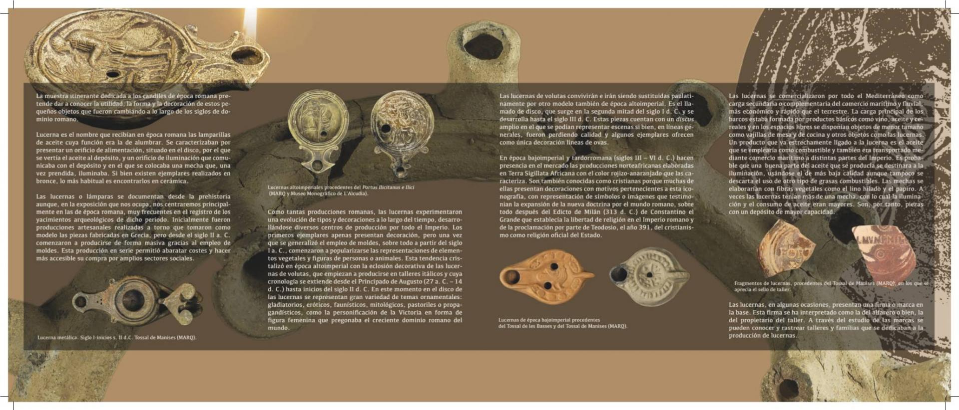 Exposición 'LUZ DE ROMA. Lucernas romanas'-MUDEM-Molina de Segura