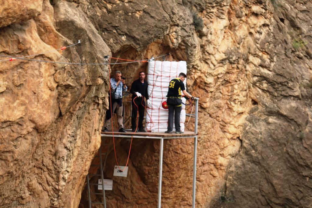 inauguración Tirolina sobre el Río Segura en Ojós