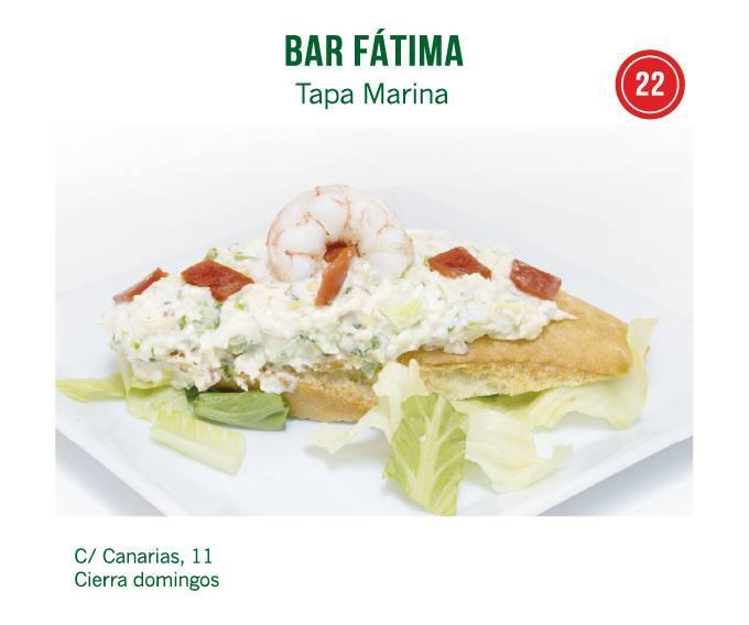tapa Bar Fátima para molina tapas 2018